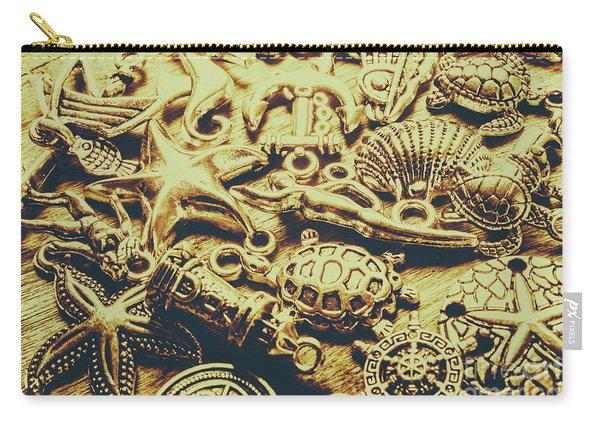 Metallic Marine Scene Carry-all Pouch