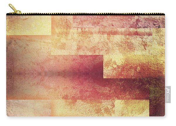 Metallic Red Gold Abstract Carry-all Pouch