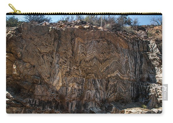 Metamorphic Geologic Wall In Kings Canyon Giant Sequoia National Monument Sequoia National Forest Carry-all Pouch