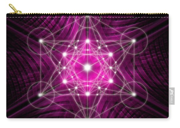 Metatron's Cube Waves Carry-all Pouch