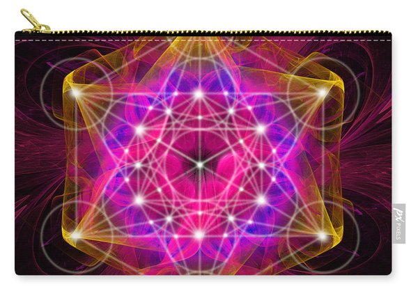 Metatron's Cube With Flower Of Life Carry-all Pouch