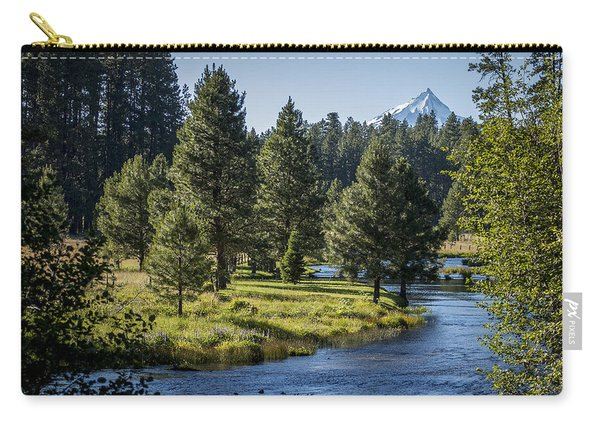 Carry-all Pouch featuring the photograph Metolius Springs Oregon by Mary Lee Dereske