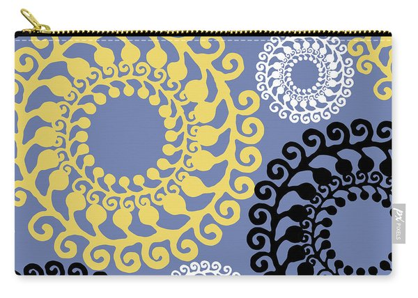Metro Retro Circle Pattern 3 Carry-all Pouch
