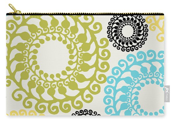 Metro Retro Circle Pattern II Carry-all Pouch