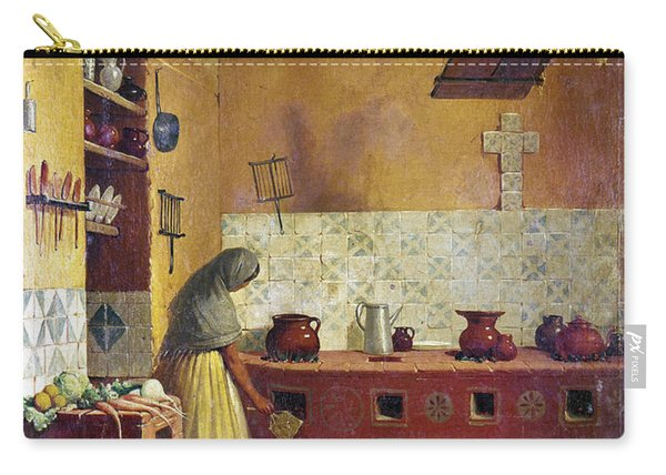 Mexico: Kitchen, C1850 Carry-all Pouch