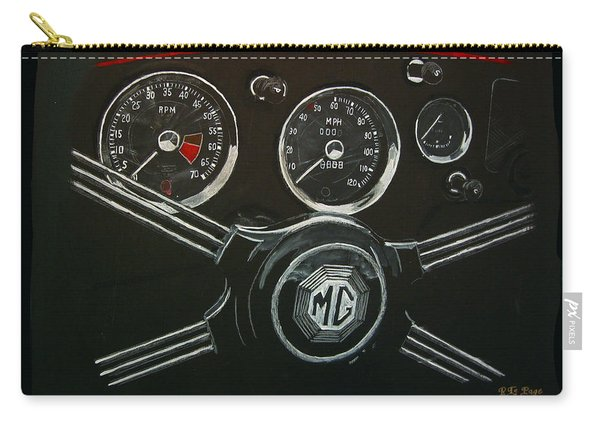 Carry-all Pouch featuring the painting Mga Dash by Richard Le Page