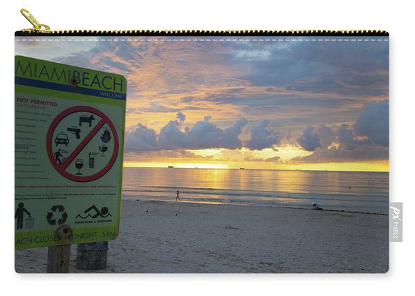 Miami Beach Sunrise Carry-all Pouch