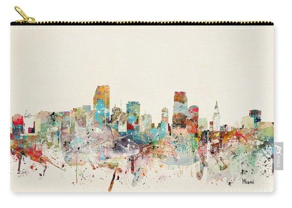 Miami Florida City Skyline Carry-all Pouch