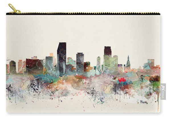 Miami Florida Skyline Carry-all Pouch