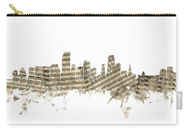 Miami Florida Skyline Sheet Music Carry-all Pouch