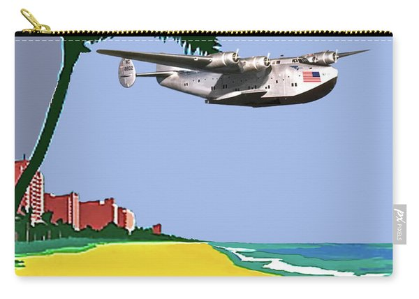 Miami To Cuba, Boeing 314 Clipper Plane, Minimalist Poster Art Carry-all Pouch