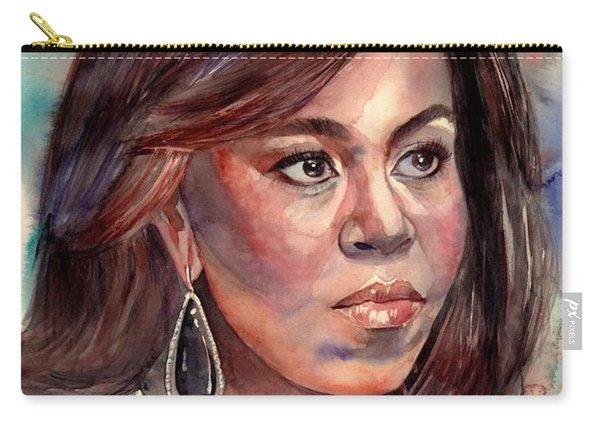 Michelle Obama Portrait Carry-all Pouch