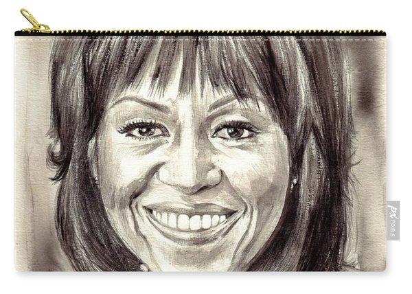 Michelle Obama Watercolor Portrait Carry-all Pouch