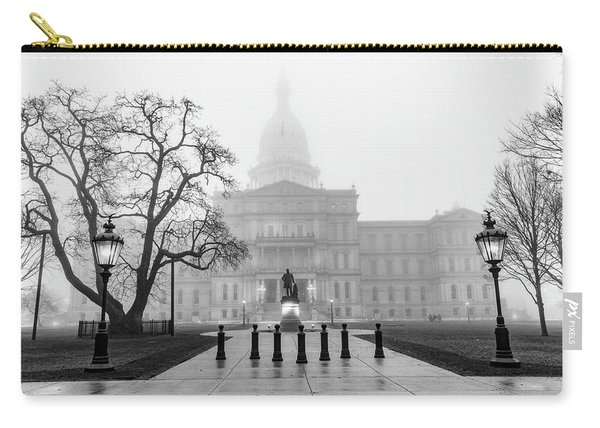 Michigan Capitol Foggy Morning 2 Carry-all Pouch