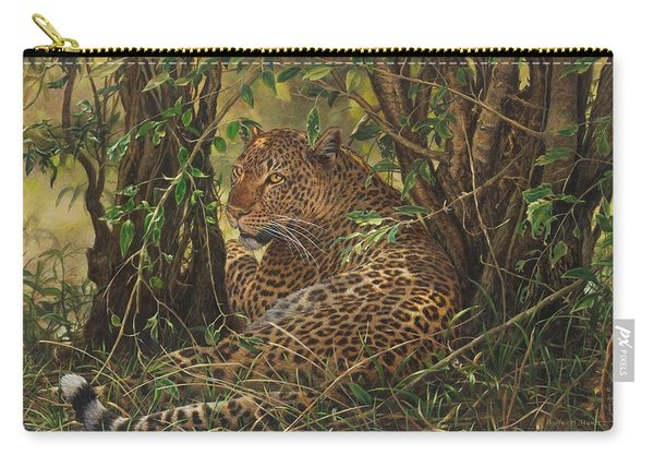 Carry-all Pouch featuring the painting Midday Siesta by Alan M Hunt