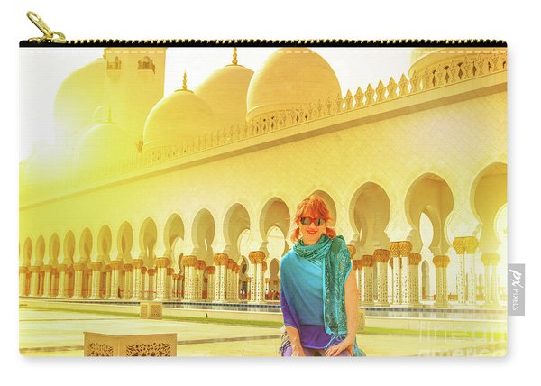 Carry-all Pouch featuring the photograph Middle East Tourism Concept by Benny Marty