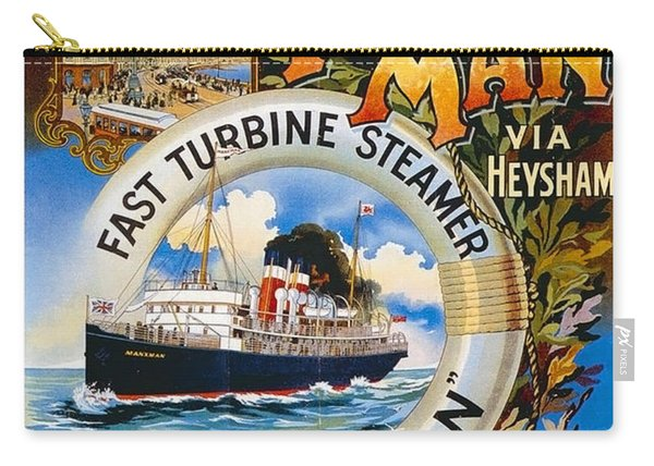 Midland Railway, Steam Boat, Isle Of Man, Poster Carry-all Pouch