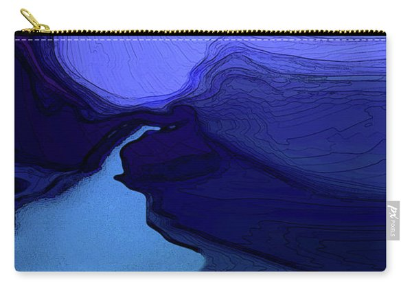 Carry-all Pouch featuring the digital art Midnight Blue by Gina Harrison
