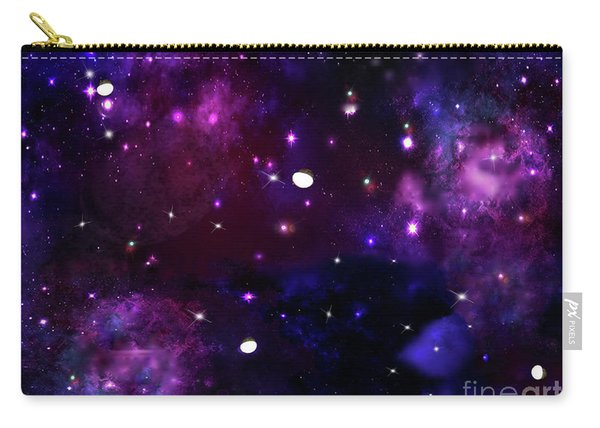 Midnight Blue Purple Galaxy Carry-all Pouch