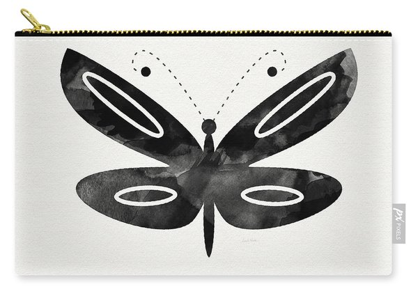 Midnight Butterfly 1- Art By Linda Woods Carry-all Pouch