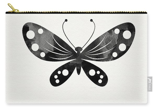 Midnight Butterfly 3- Art By Linda Woods Carry-all Pouch