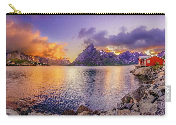 Carry-all Pouch featuring the photograph Midnight Orange by Dmytro Korol