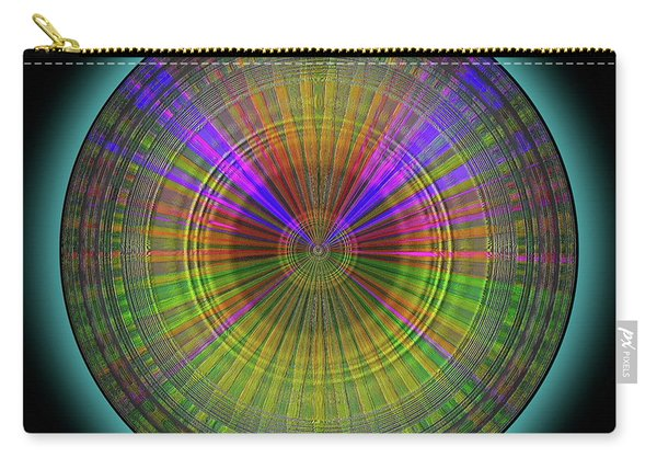 Carry-all Pouch featuring the digital art Midnight Sunset by Visual Artist Frank Bonilla
