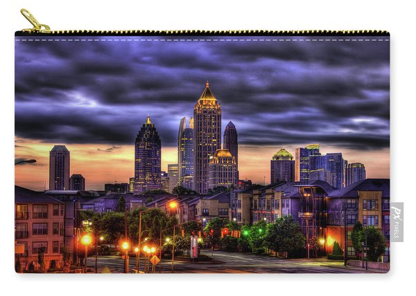Midtown Atlanta Towers Over Atlantic Commons Art Carry-all Pouch