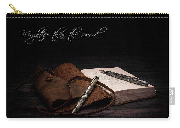 Mightier Than The Sword Carry-all Pouch