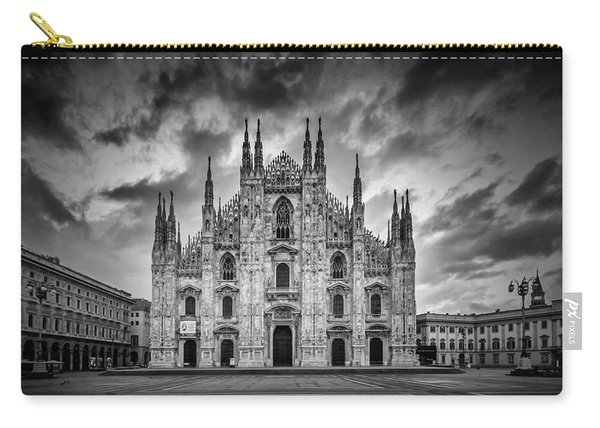 Milan Cathedral Santa Maria Nascente Monochrome Carry-all Pouch