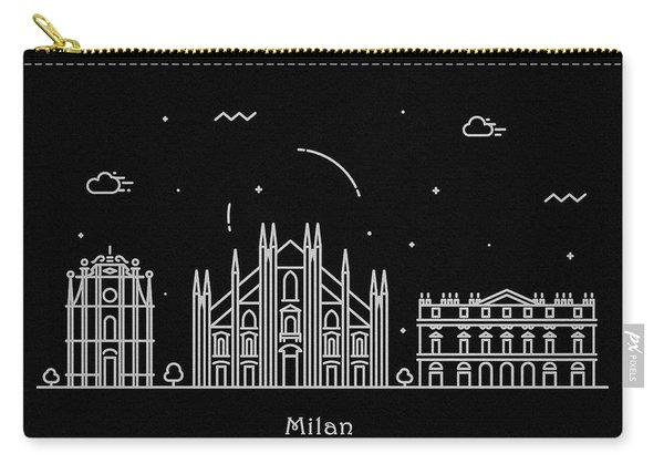 Milan Skyline Travel Poster Carry-all Pouch
