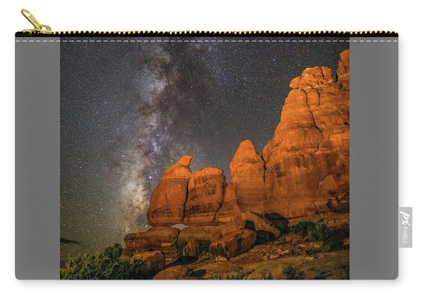 Milky Way And Navajo Rocks Carry-all Pouch