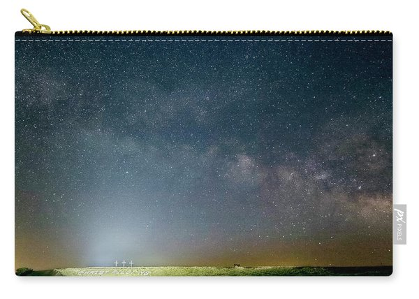 Carry-all Pouch featuring the photograph Milky Way Over Christ Pilot Me Hill by Rob Graham