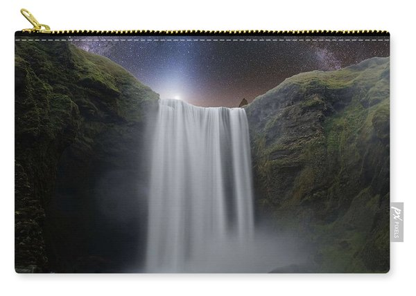 Milkyway Arch Over Raging Waterfall By Adam Asar 3aa Carry-all Pouch
