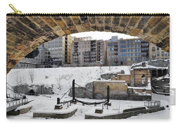 Mill Ruins Park Winter Carry-all Pouch