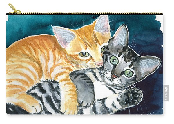 Milo And Tigger - Cute Kitty Painting Carry-all Pouch