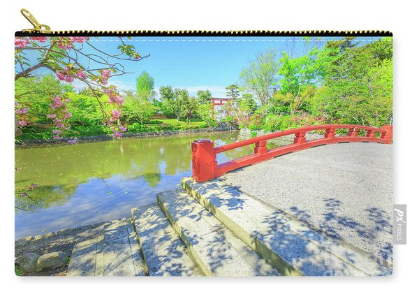 Carry-all Pouch featuring the photograph Minamoto Lake In Kamakura by Benny Marty