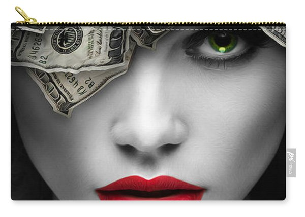 Mind On The Money Carry-all Pouch