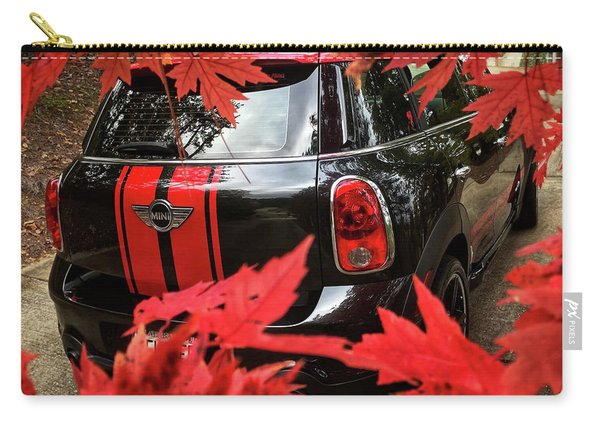 Mini With Fall Leaves Carry-all Pouch