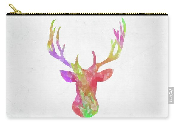 Minimal Abstract Deer Head Watercolor Carry-all Pouch