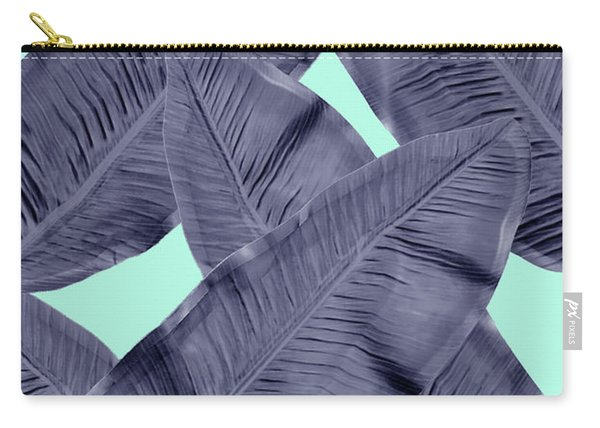 Minimal Leaf In Blue  Carry-all Pouch