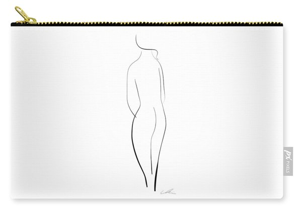 Minimal Line Drawing Of A Nude Woman Carry-all Pouch