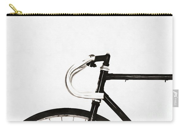 Minimalist Bicycle Painting Carry-all Pouch