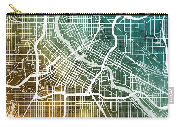 Minneapolis Minnesota City Map Carry-all Pouch