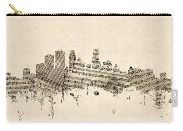 Minneapolis Minnesota Skyline Sheet Music Cityscape Carry-all Pouch