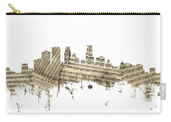 Minneapolis Minnesota Skyline Sheet Music Carry-all Pouch