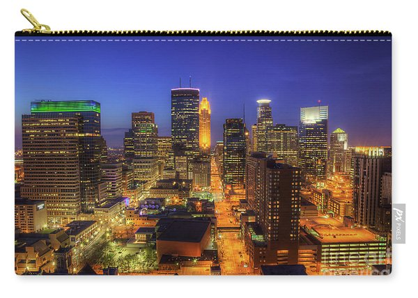 Minneapolis Skyline Art Marquette Avenue Carry-all Pouch