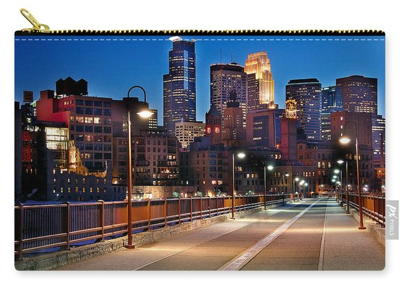 Minneapolis Skyline From Stone Arch Bridge Carry-all Pouch