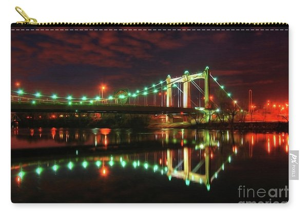 Minneapolis Skyline Hennepin Avenue Bridge Carry-all Pouch