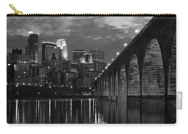 Minneapolis Stone Arch Bridge Bw Carry-all Pouch